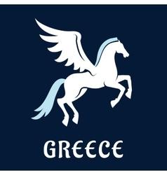 Flat greece Pegasus horse icon vector image vector image