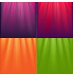 Lights Backgrounds Set vector image vector image