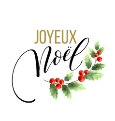 French christmas greeting card with text merry vector image merry christmas card template with greetings in vector image m4hsunfo Images