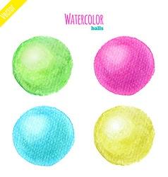 Watercolor balls vector image