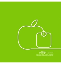 Apple with weights vector image vector image