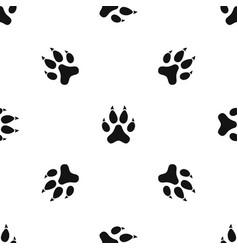 cat paw pattern seamless black vector image