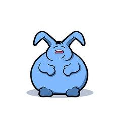 Fat Rabbit Cartoon vector image vector image