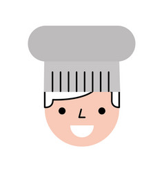 Hotel chef avatar character vector