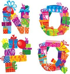 NOPQ - english alphabet vector image vector image