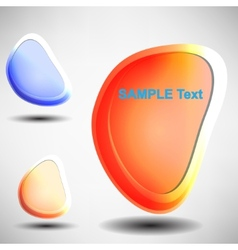Shiny bubbles for speech editable vector image