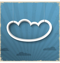 3d white cloud on grunge background vector image vector image