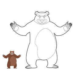 Bear coloring book Grizzlies in linear style Good vector image vector image