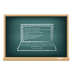 board laptop vector image vector image