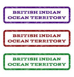 British indian ocean territory watermark stamp vector