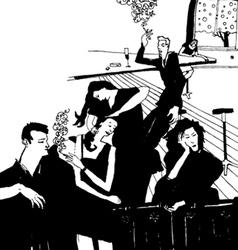clubbing people vector image vector image