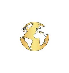 earth computer symbol vector image