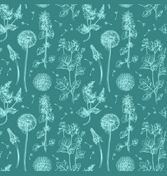 pattern with wildflowers vector image vector image
