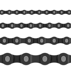 seamless chain vector image vector image