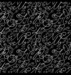 seamless hand drawn background vector image