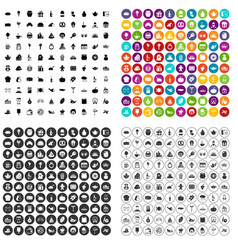 100 bounty icons set variant vector