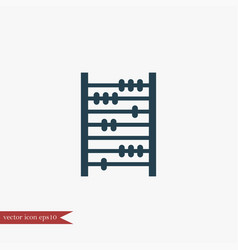 abacus icon education vector image
