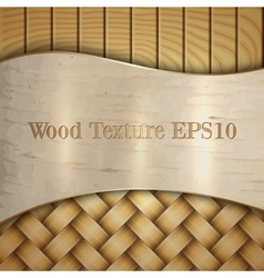 Abstract wooden texture with wickerwork birch and vector