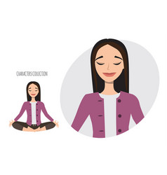 asian woman relax and enjoy vector image