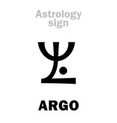 Astrology constellation argo argo navis vector