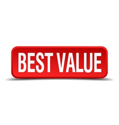Best value red three-dimensional square button vector