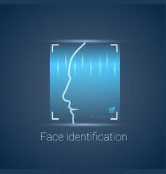 Biometric identification face scanning modern vector