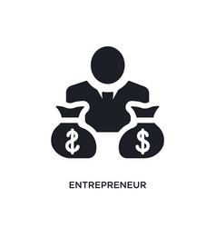 Black entrepreneur isolated icon simple element vector