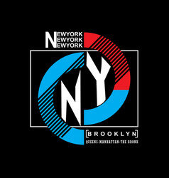 brooklyn remix typography t-shirt graphics vector image