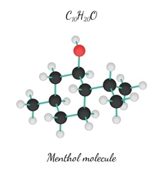C10H20O Menthol molecule vector