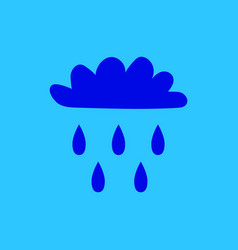 Cloud with rain sign 1504 vector