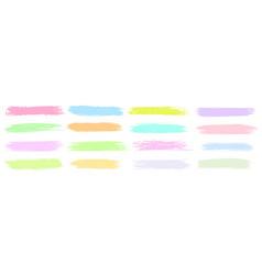 color highlight line sticker design element set vector image
