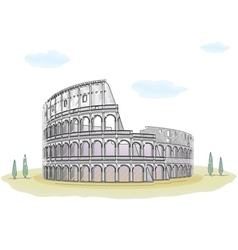 Colosseum - sketch drawing vector