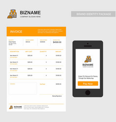 Company invoice with logo and creative design vector