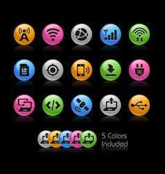 Connectivity icons - gelcolor series vector