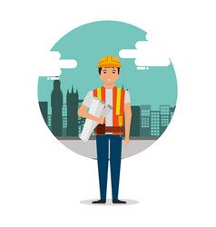 construction people workers vector image