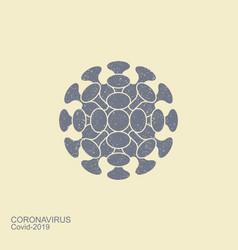 coronavirus flat icon stylized icon vector image