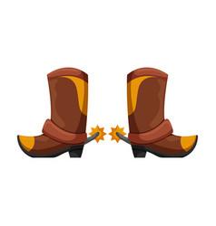 cowboy boot iconcartoon icon vector image