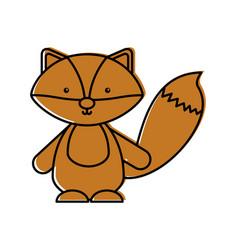 Cute and tender fox vector