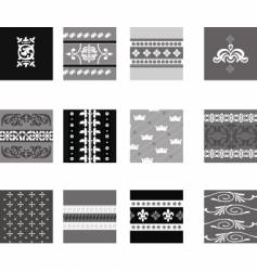 decorative border patterns vector image