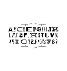 Decorative font different styles vector