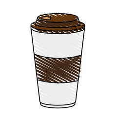 Delicious coffee cup icon imag vector