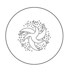 Earth icon in outline style isolated on white vector