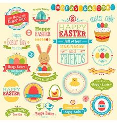 Easter labels vector