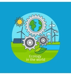 Ecology in the world concept vector image