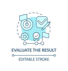 Evaluate result blue concept icon vector
