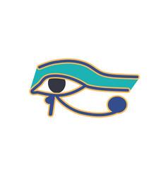 eye of horus or wadjet ancient egyptian vector image