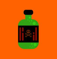 Flat icon stylish background potion in bottle vector