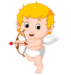Funny little cupid boy vector