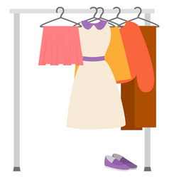 Garment retail wardrobe sale clothes sell vector