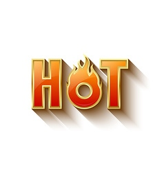 Glossy hot lettering vector